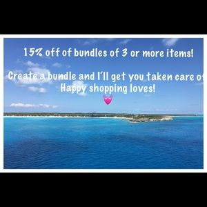 15% off of bundles of three or more items!